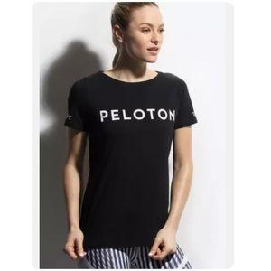 Peloton Century 100 Basic Black Cotton Short Sleeve Tee